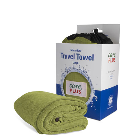 Care Plus Travel Towel Microfibre Large - Groen