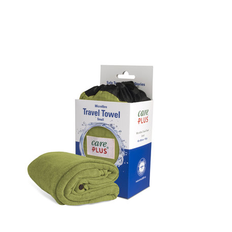 Care Plus Travel Towel Microfibre Small - Groen