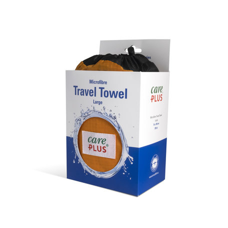Care Plus Travel Towel Microfibre Large - Oranje