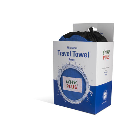 Care Plus Travel Towel Microfibre Large - Blauw