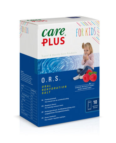 Care Plus O.R.S. voor kinderen (junior) - Framboos