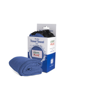 Care Plus Travel Towel Microfibre Small - Blauw